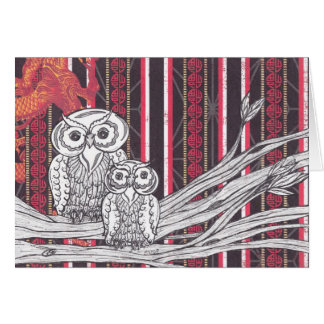 Asian Owls Card