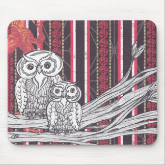 Asian Owls Mousepad