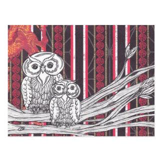 Asian Owls Postcard
