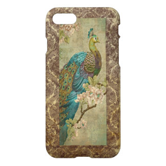 Asian Peacock Painting on Vintage Background iPhone 8/7 Case