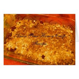 Asian Pear Honey Crisp Recipe Card