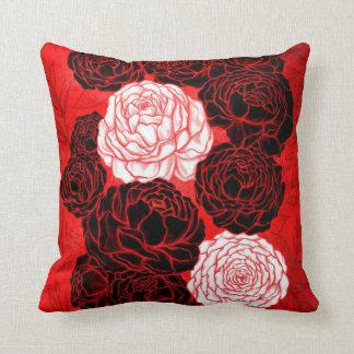 Asian Peony Flowers Pillow