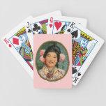 Asian Pom Pom Lady Deck Of Cards