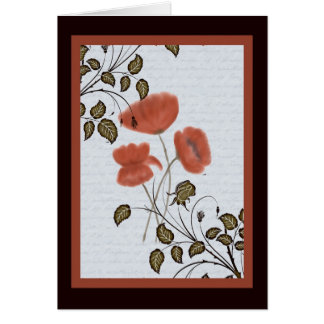 Asian Poppies Note Card