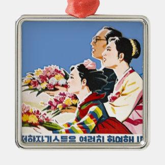 Asian poster metal ornament