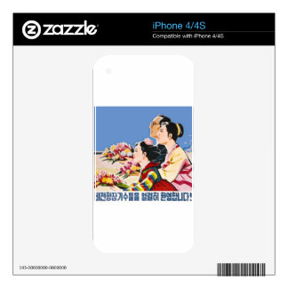 Asian poster skins for iPhone 4