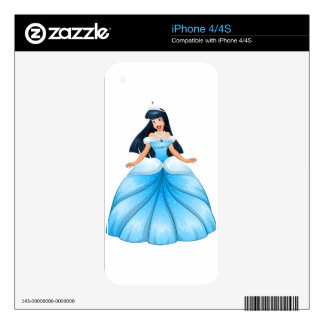 Asian Princess in Blue Dress Decal For iPhone 4