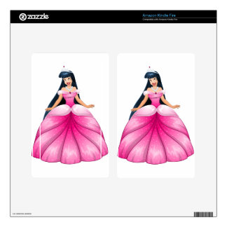 Asian Princess in Pink Dress Kindle Fire Skin