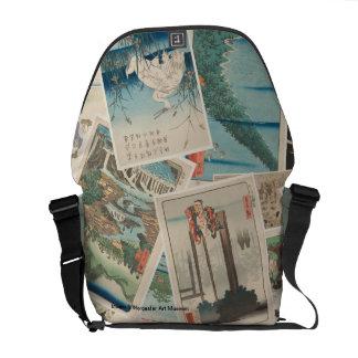 Asian Print Collage - Richshaw Messenger Bag