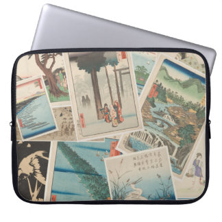 Asian Prints - Collage, Laptop Sleeve