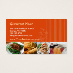 Asian Restaurant Business Card at Zazzle