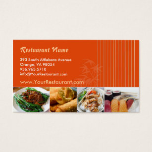 Restaurant business cards templates zazzle asian restaurant business card flashek Gallery