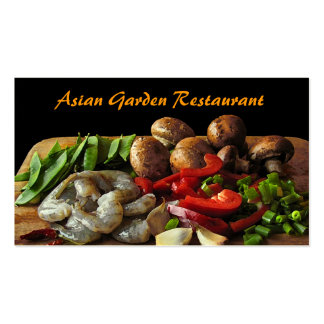 Asian Restaurant Double-Sided Standard Business Cards (Pack Of 100)