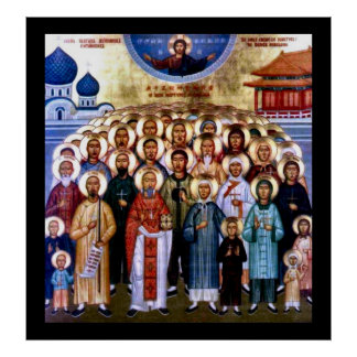 Asian Saints & Jesus Poster