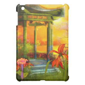 Asian Scene Yellow Floral iPad Mini Cover