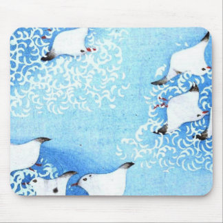 Asian Sea Birds Mouse Pad