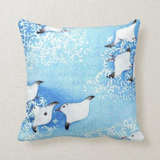 Asian Sea Birds Pillows
