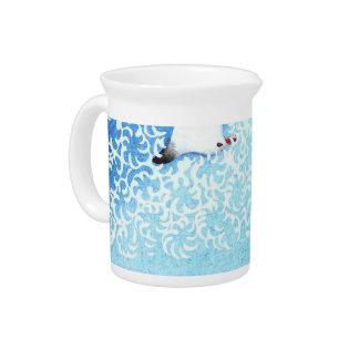 Asian Sea Birds Beverage Pitcher