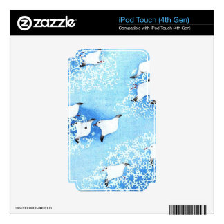 Asian Sea Birds Skins For iPod Touch 4G