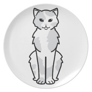 Asian Self u0026 Tortie Cat Cartoon Dinner Plate  sc 1 st  Zazzle & Cartoon Tortie Cat Plates | Zazzle