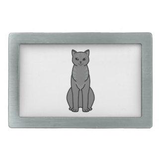 Asian Smoke Cat Cartoon Belt Buckles