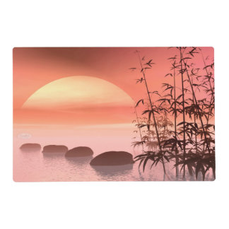 Asian steps to the sun - 3D render Placemat