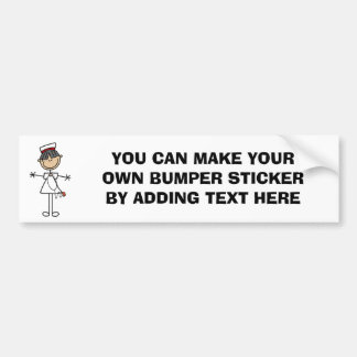 Asian Stick Figure Nurse T-shirts and Gifts Bumper Sticker