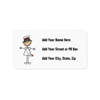 Asian Stick Figure Nurse T-shirts and Gifts Label