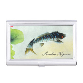 Asian Style Fish Business Card Holder