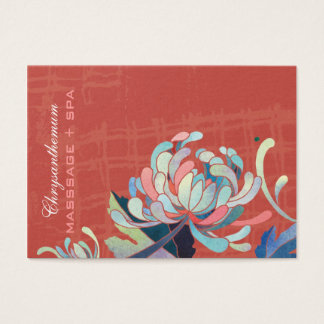 Asian Style Mum Red Business Appointment Cards