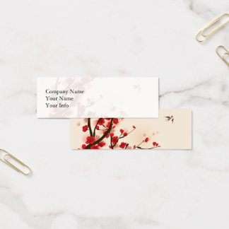 Asian Style Painting, Plum Blossom in Spring Mini Business Card