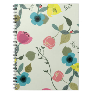 Asian styled floral patterns notebook