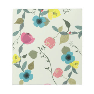 Asian styled floral patterns notepad