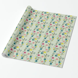 Asian styled floral patterns wrapping paper