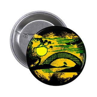 Asian Sunset Pinback Button
