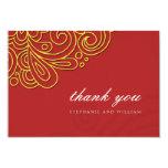 Asian Swirl Wedding Thank You Card