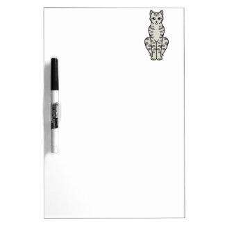 Asian Tabby Cat Cartoon Dry-Erase Board