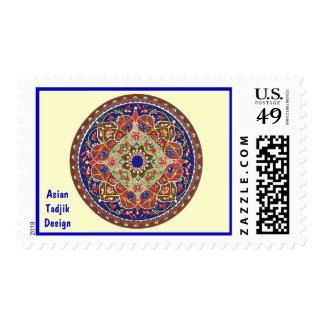 Asian Tadjik Design Postage Stamp