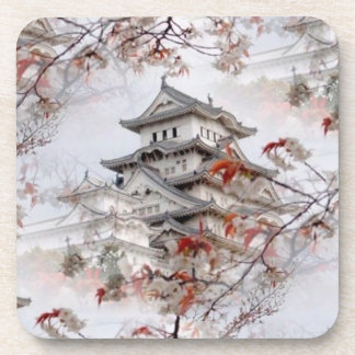 Asian Temple Beverage Coaster