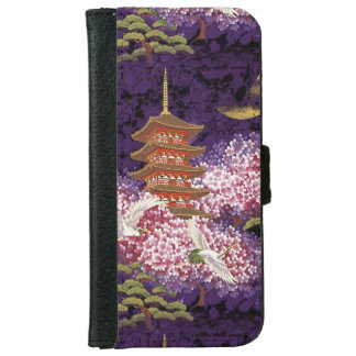 Asian Temple Wallet Phone Case For iPhone 6/6s
