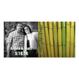 Asian Theme Bamboo Save the Date Custom Template