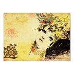 "Asian Theme ""In an Oriental Mood"" Announcement 5"" X 7"" Invitation Card"