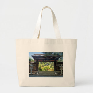 Asian themed gateway large tote bag