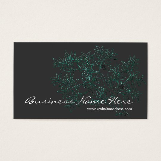 Asian Themed Tree Design Business Cards