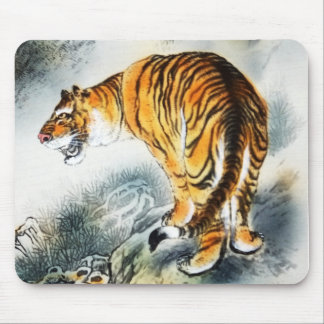 Asian Tiger Mouse Pad
