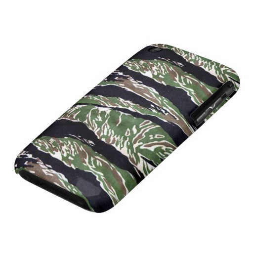 Asian Tiger Stripe Camouflage iPhone 3 Case