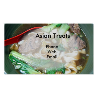 Asian Treats and Authentic Foods Double-Sided Standard Business Cards (Pack Of 100)