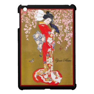 Asian Vintage Diva Lady Retro Red iPad Mini Case