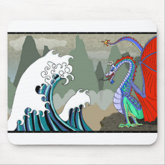 Asian-Water-Dragon Mouse Pad