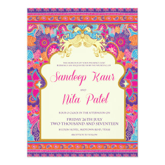 Mehndi Peacock Invitations & Announcements | Zazzle